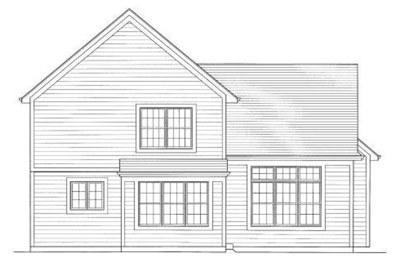 Traditional Exterior - Rear Elevation Plan #46-422 - Houseplans.com