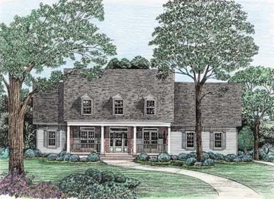 Country Exterior - Front Elevation Plan #20-1029 - Houseplans.com