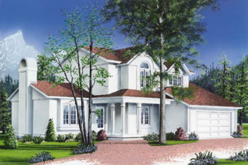 Traditional Exterior - Front Elevation Plan #23-238 - Houseplans.com