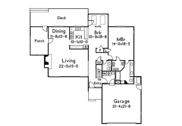 Modern Floor Plan - Main Floor Plan Plan #57-672
