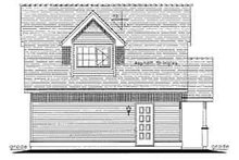 House Blueprint - Traditional Exterior - Rear Elevation Plan #18-317