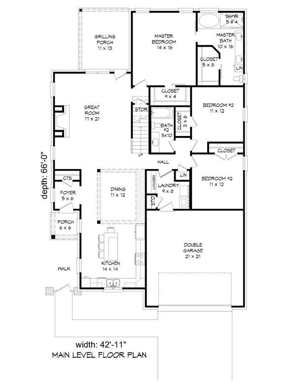 Country Floor Plan - Main Floor Plan Plan #932-273