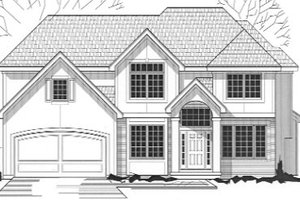 Traditional Exterior - Front Elevation Plan #67-758