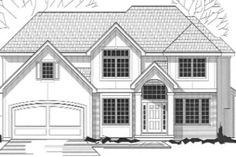 Traditional Style House Plan - 4 Beds 2.5 Baths 2428 Sq/Ft Plan #67-758 Exterior - Front Elevation