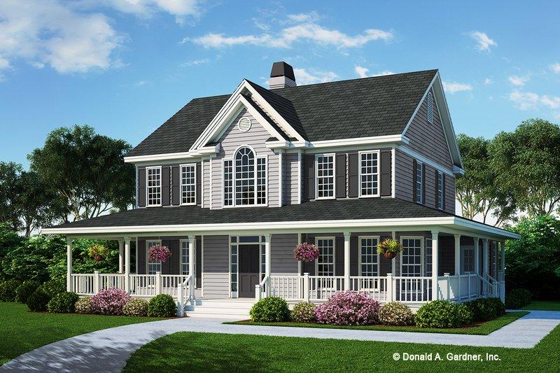 Farmhouse Style House Plan - 4 Beds 3.5 Baths 2182 Sq/Ft Plan #929-167
