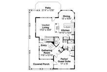 Craftsman Floor Plan - Main Floor Plan Plan #124-556