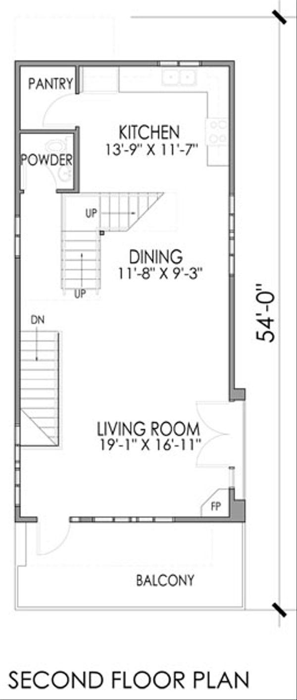 Modern Floor Plan - Main Floor Plan Plan #518-2