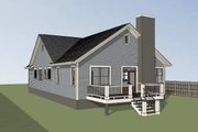 Farmhouse Style House Plan - 3 Beds 2 Baths 1720 Sq/Ft Plan #79-232 Exterior - Rear Elevation