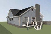 Farmhouse Style House Plan - 3 Beds 2 Baths 1720 Sq/Ft Plan #79-232 Exterior - Rear Elevation