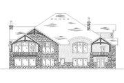 European Style House Plan - 4 Beds 4.5 Baths 4123 Sq/Ft Plan #5-418 Exterior - Rear Elevation