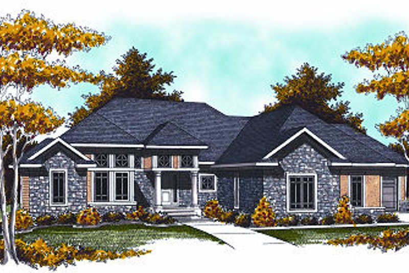 European Exterior - Front Elevation Plan #70-884