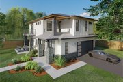 Prairie Style House Plan - 3 Beds 3 Baths 1927 Sq/Ft Plan #126-225 Exterior - Other Elevation