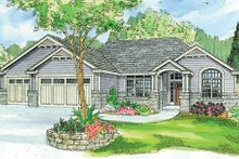 Dream House Plan - Craftsman Exterior - Front Elevation Plan #124-749