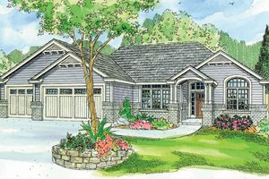 Craftsman Exterior - Front Elevation Plan #124-749