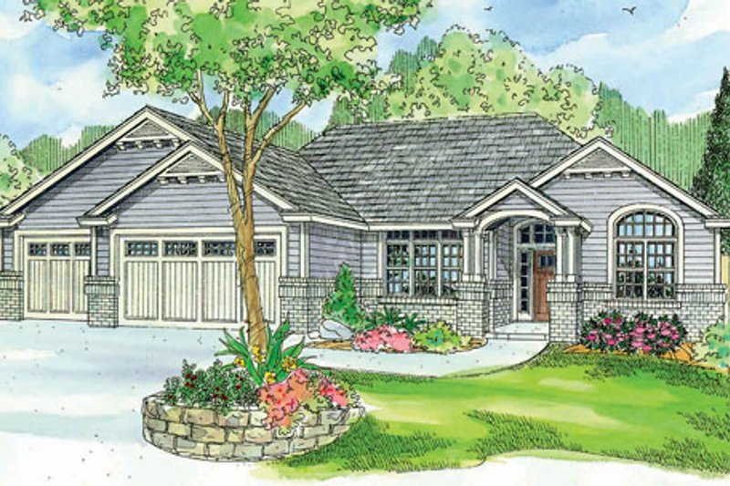 Craftsman Style House Plan - 3 Beds 2.5 Baths 2489 Sq/Ft Plan #124-749 Exterior - Front Elevation