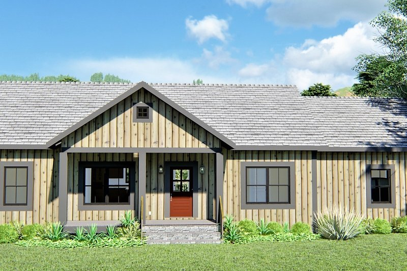 Ranch Exterior - Front Elevation Plan #44-239