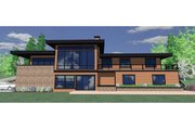 Modern Style House Plan - 5 Beds 3.5 Baths 3113 Sq/Ft Plan #509-2 Exterior - Front Elevation