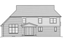 Home Plan - Traditional Exterior - Rear Elevation Plan #46-877