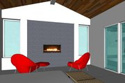 Modern Style House Plan - 3 Beds 3.5 Baths 3392 Sq/Ft Plan #449-15 Photo