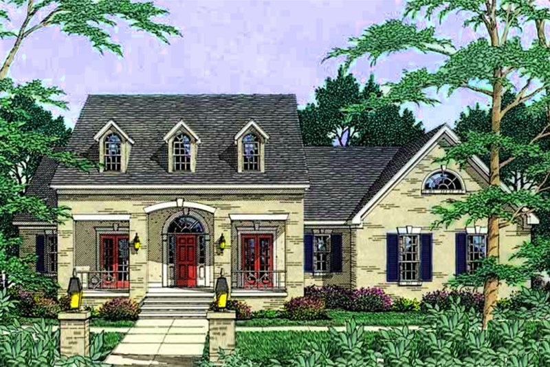 European Exterior - Front Elevation Plan #406-240