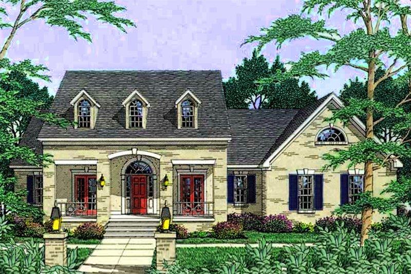 Dream House Plan - European Exterior - Front Elevation Plan #406-240