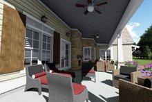 Farmhouse Exterior - Covered Porch Plan #1069-2