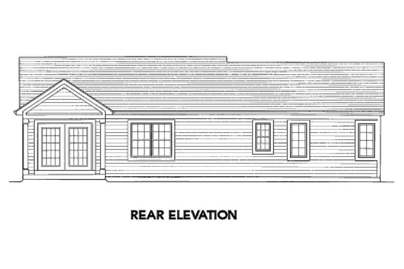 Exterior - Rear Elevation Plan #46-462 - Houseplans.com