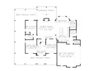 Farmhouse Floor Plan - Main Floor Plan Plan #54-379