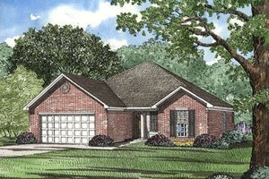 Traditional Exterior - Front Elevation Plan #17-1044