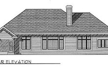 Dream House Plan - Traditional Exterior - Rear Elevation Plan #70-393