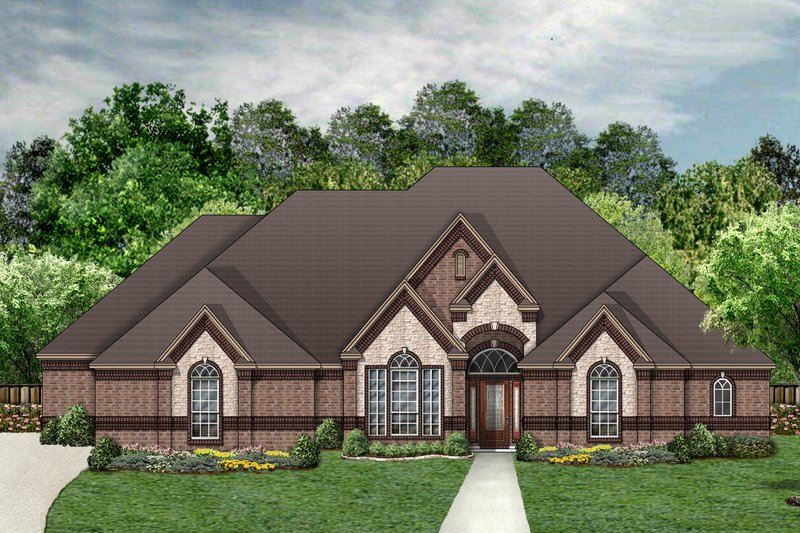 Architectural House Design - Traditional Exterior - Front Elevation Plan #84-399
