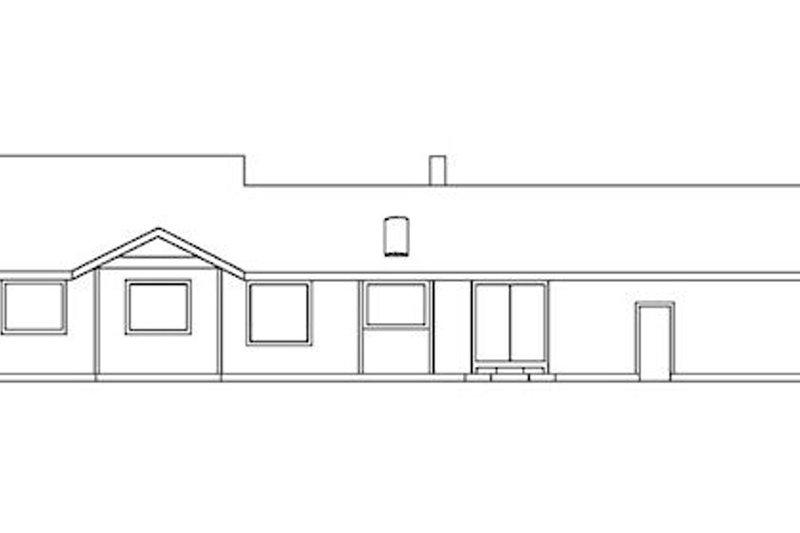 Traditional Exterior - Rear Elevation Plan #60-201 - Houseplans.com
