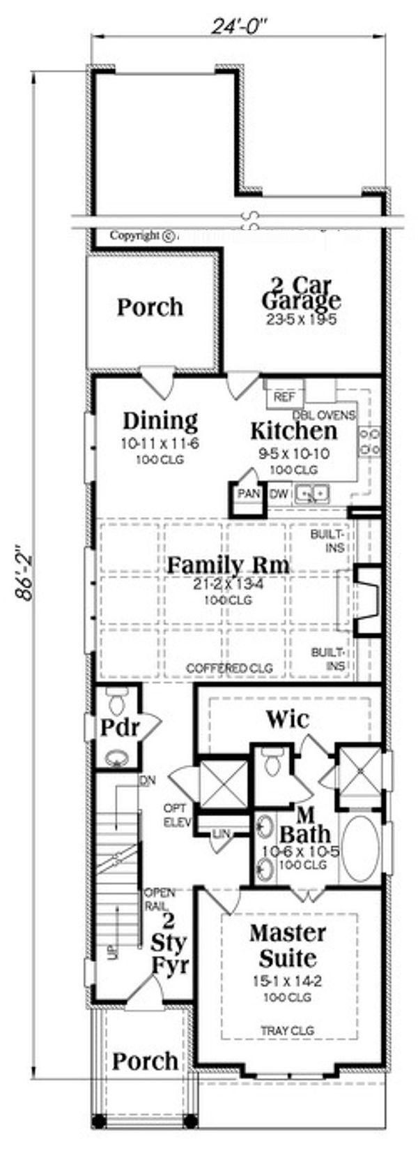 Traditional Floor Plan - Main Floor Plan #419-292