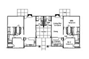 Contemporary Style House Plan - 4 Beds 4 Baths 2602 Sq/Ft Plan #57-686 Floor Plan - Main Floor