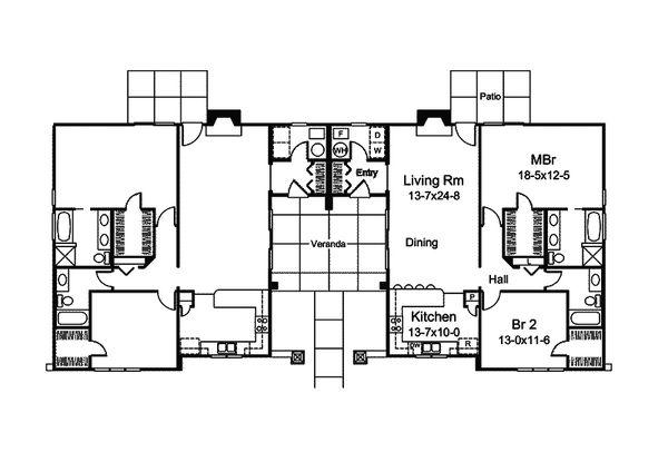 Contemporary Floor Plan - Main Floor Plan Plan #57-686