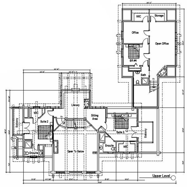 Log Floor Plan - Upper Floor Plan Plan #451-16
