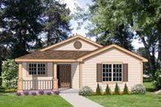 Cottage Style House Plan - 3 Beds 2 Baths 1273 Sq/Ft Plan #116-291 Exterior - Front Elevation
