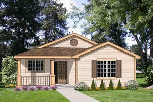 Cottage Exterior - Front Elevation Plan #116-291
