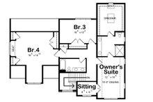 Traditional Floor Plan - Upper Floor Plan Plan #20-2319