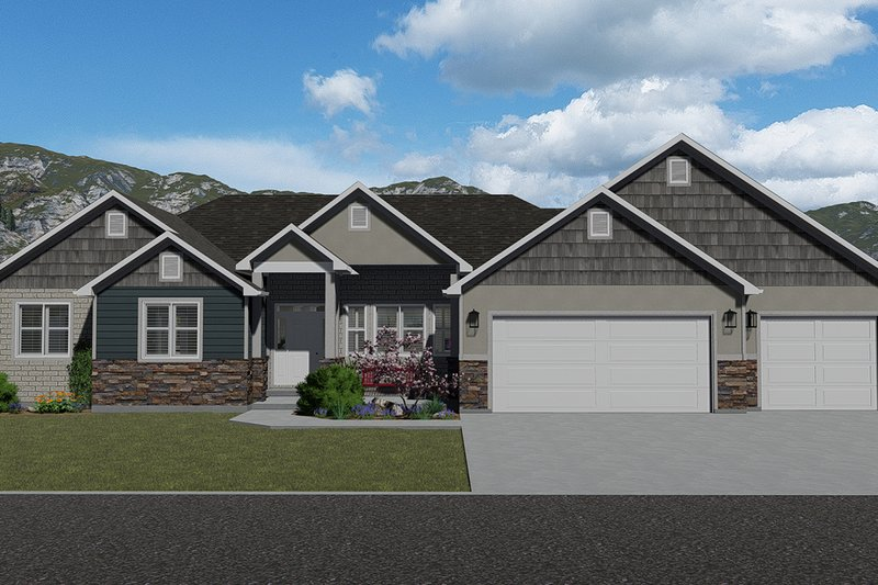 Farmhouse Style House Plan - 3 Beds 2.5 Baths 2254 Sq/Ft Plan #1060-47 Exterior - Front Elevation