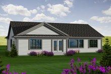Dream House Plan - Ranch Exterior - Rear Elevation Plan #70-1115