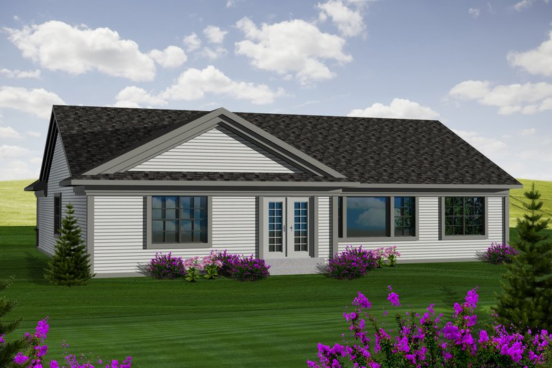 Ranch Exterior - Rear Elevation Plan #70-1115 - Houseplans.com