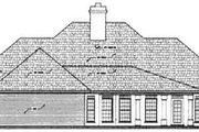 European Style House Plan - 3 Beds 2 Baths 2000 Sq/Ft Plan #45-137 Exterior - Rear Elevation