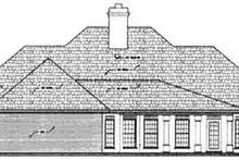 Home Plan Design - European Exterior - Rear Elevation Plan #45-137