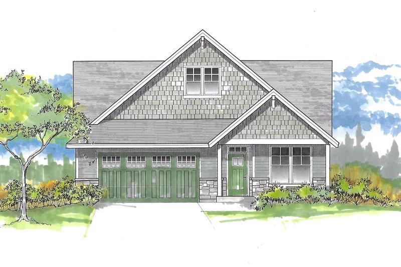 House Plan Design - Craftsman Exterior - Front Elevation Plan #53-634