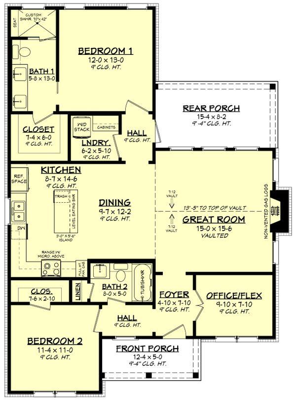 Dream House Plan - Cottage Floor Plan - Main Floor Plan #430-247