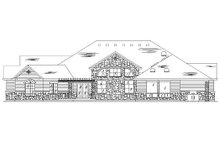 House Plan Design - Colonial Exterior - Rear Elevation Plan #5-336
