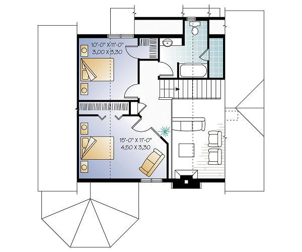 Floor Plan - Upper Floor Plan Plan #23-758