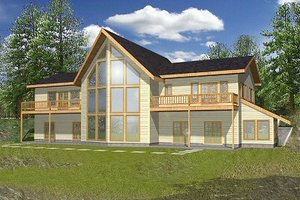 Home Plan Design - Modern Exterior - Front Elevation Plan #117-153