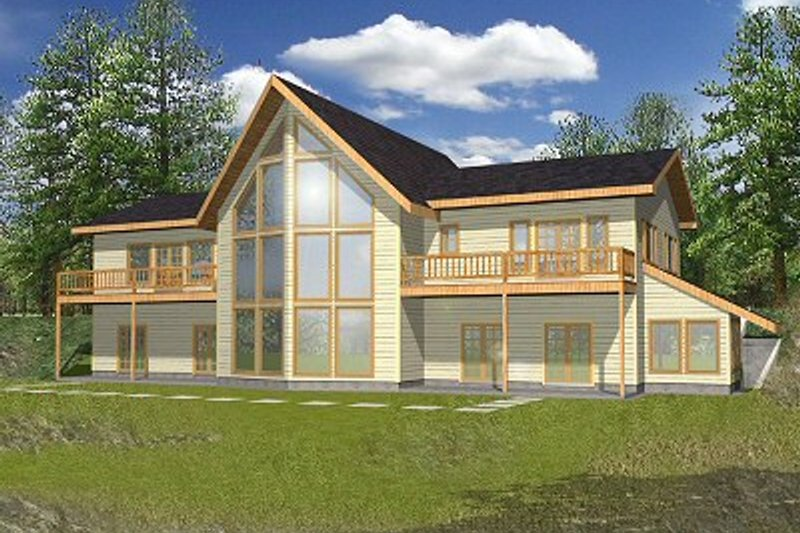 Modern Exterior - Front Elevation Plan #117-153 - Houseplans.com